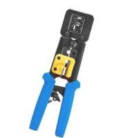Professional Crimping Tool for RJ11-RJ45 wire thro