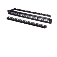 "19"" Modular Patch Panel Cat.6a UTP 24 RJ45 Toolles"