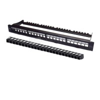 "19"" Modular Patch Panel Cat.6 UTP 24 RJ45 Tool-les"