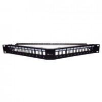Angled Blank Patch Panel With Cable Management 24