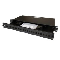 """19"""" 1U sliding Splice box with front panel for 24"""