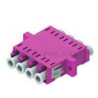 LC-LC OM4 Quad Adapter- Multimode-Plastic housing-