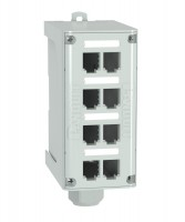 8-port DIN Rail Fiber Optic Enclosure