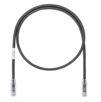 Patch Cord in Rame- Cat 6A- Black UTP Cable- 1m