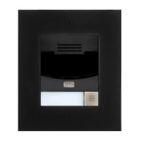 2N IP Solo with camera - black, flush mount (inclu